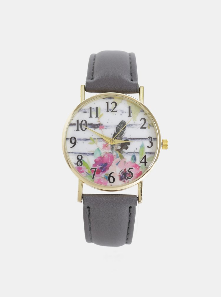 Dámské hodinky s tmavě šedým páskem Haily´s Lilly