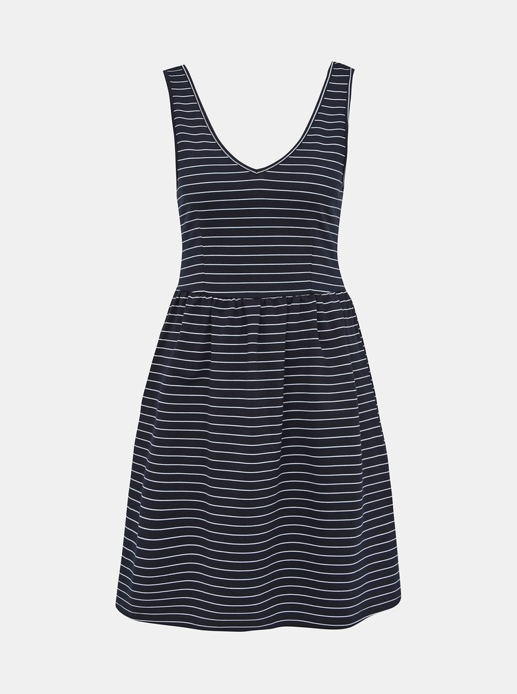 Tmavě modré pruhované šaty ONLY Joy
