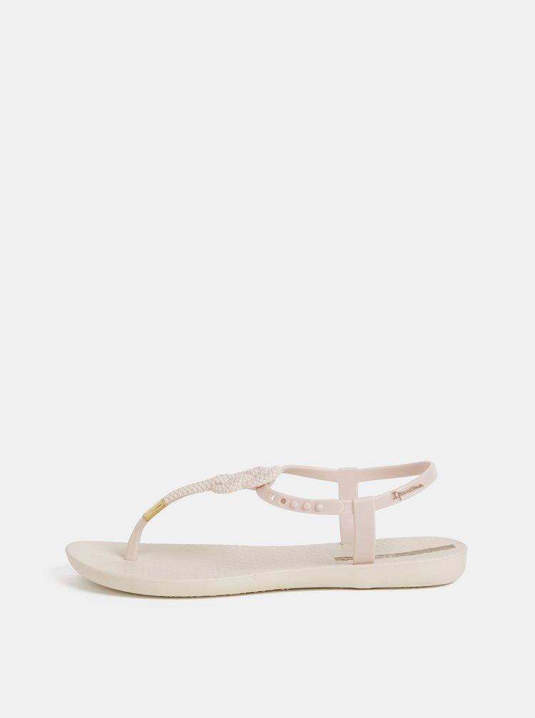 Krémové sandále Ipanema Glass