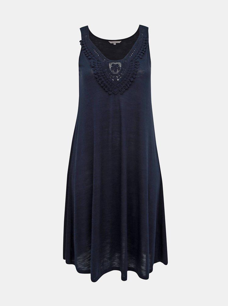 Tmavě modré šaty ONLY CARMAKOMA Elsa