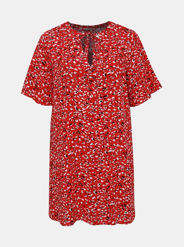 Červené vzorované šaty ONLY CARMAKOMA Kinea