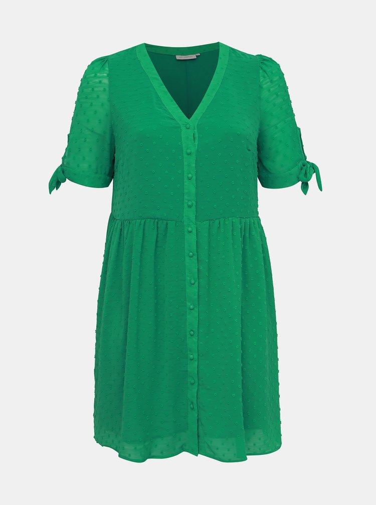 Zelené šaty ONLY CARMAKOMA Sofia
