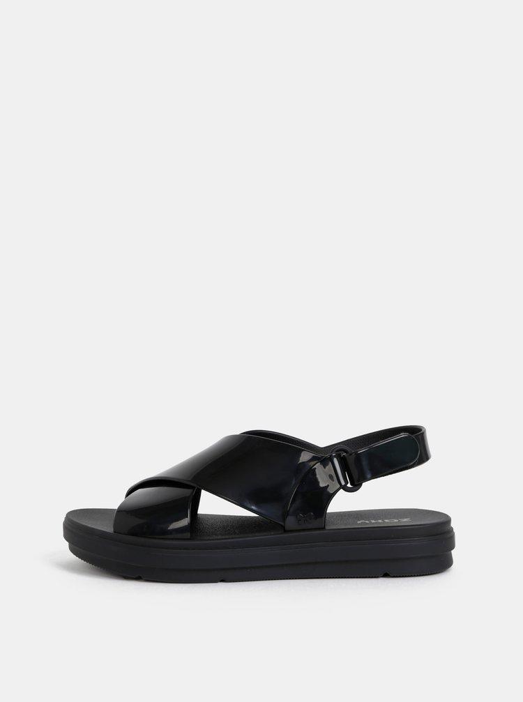 Čierne sandále Zaxy Talk Sand Plat