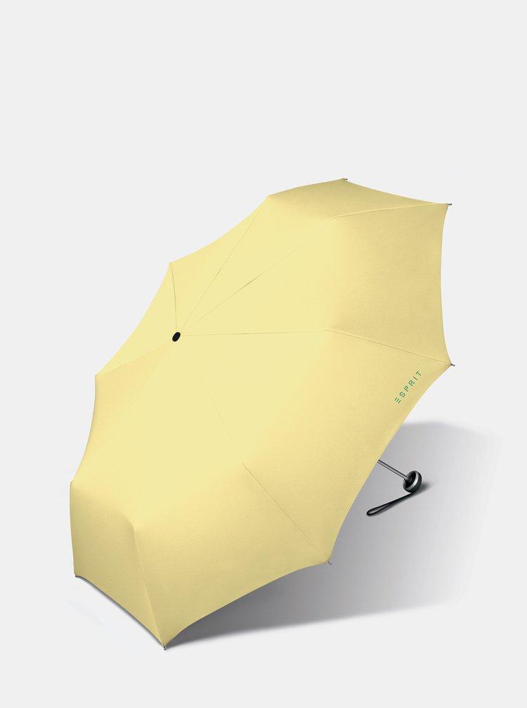 Žlutý skládací deštník Esprit Mini ALU