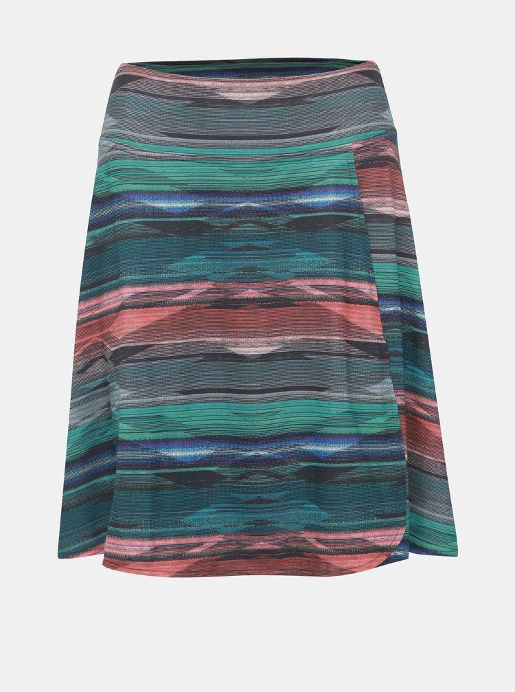 Zelená vzorovaná sukňa prAna Fiefer