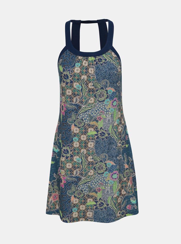 Tmavomodré vzorované šaty prAna Cantine