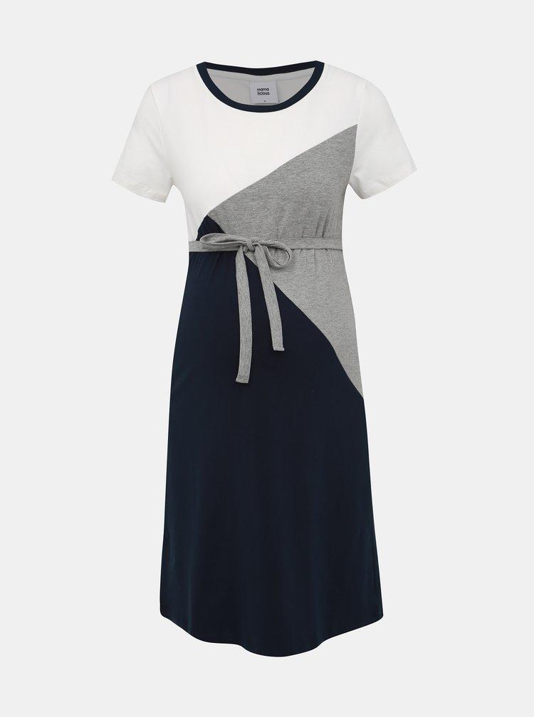 Bílo-modré těhotenské šaty Mama.licious Britta
