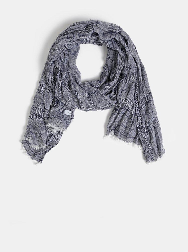 Tmavě modrý vzorovaný šátek Jack & Jones Lukas