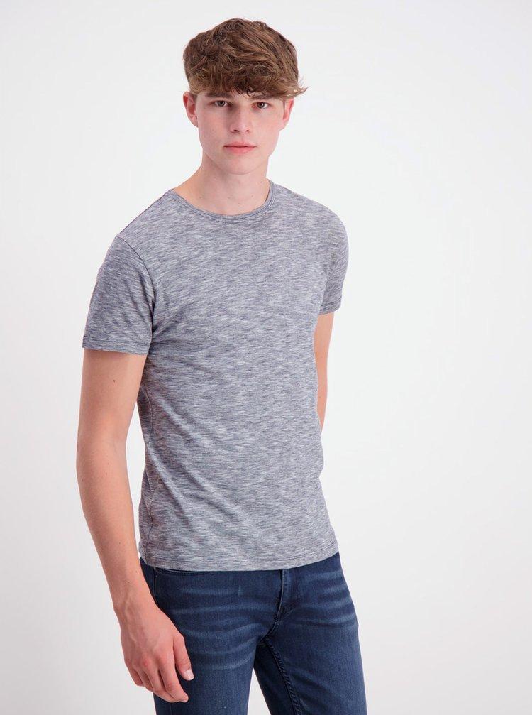 Modré žíhané basic tričko Lindbergh