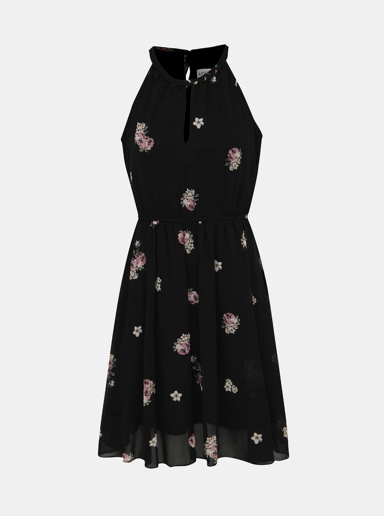Čierne kvetované šaty Apricot