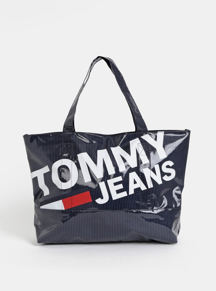 Tmavě modrý shopper s potiskem Tommy Hilfiger Summer