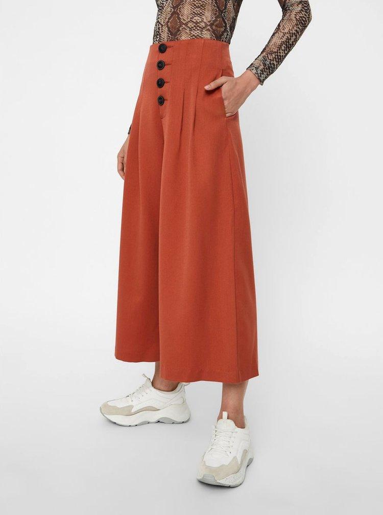 Cihlové culottes s vysokým pasem Noisy May Stine