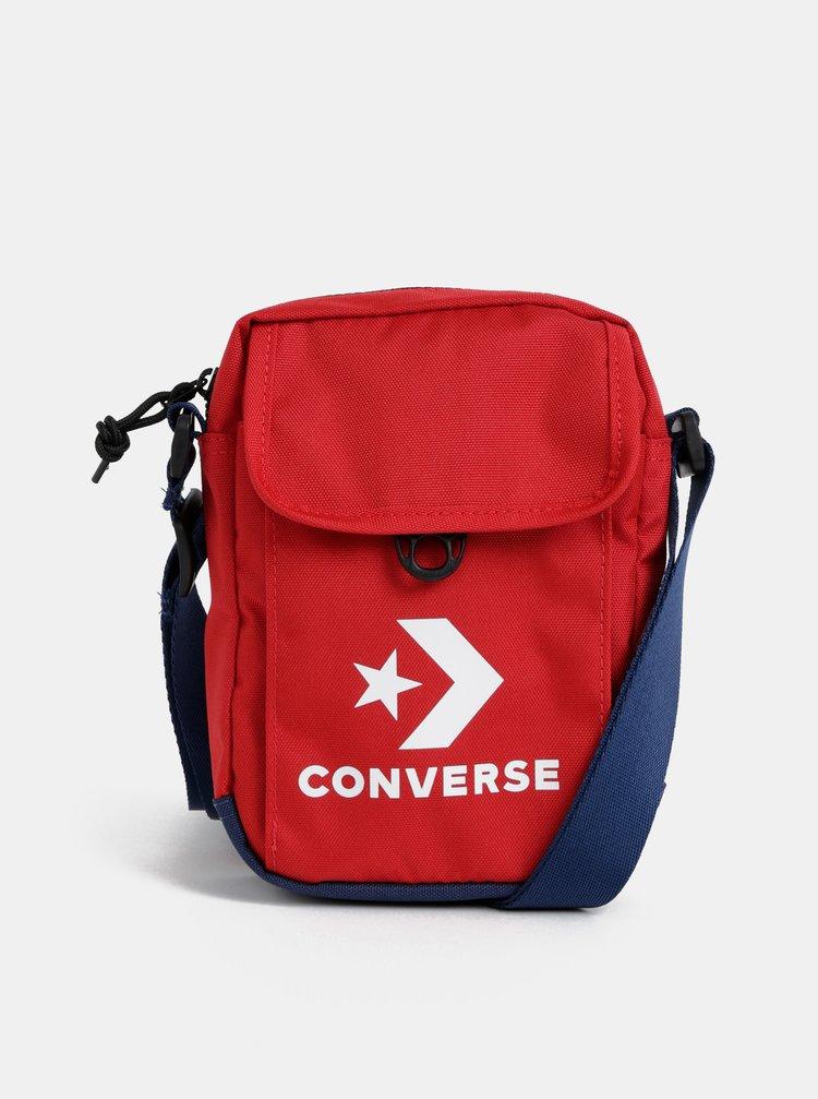 Červená crossbody taška s potlačou Converse