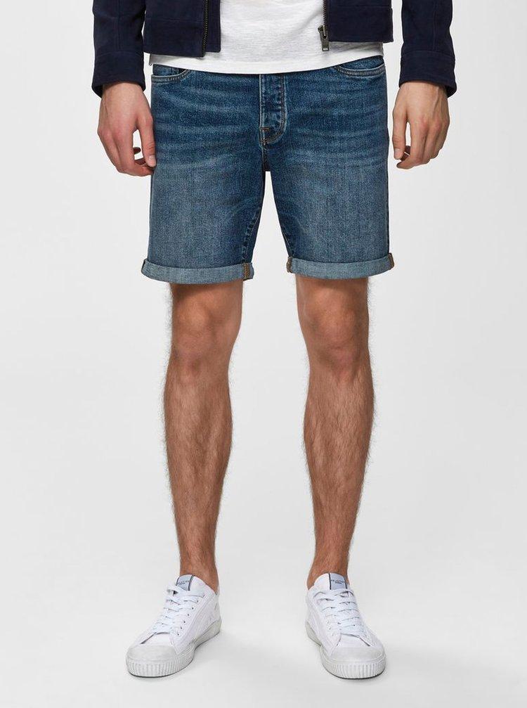 Pantaloni scurti albastri din denim Selected Homme Halex