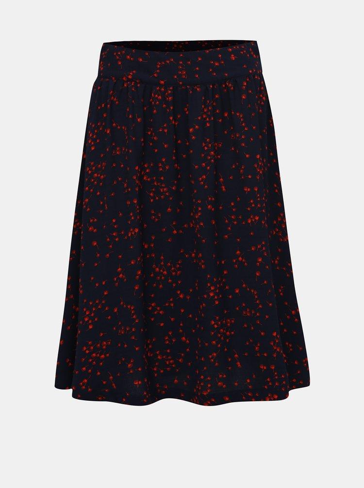 Tmavě modrá vzorovaná sukně Jacqueline de Yong Layla