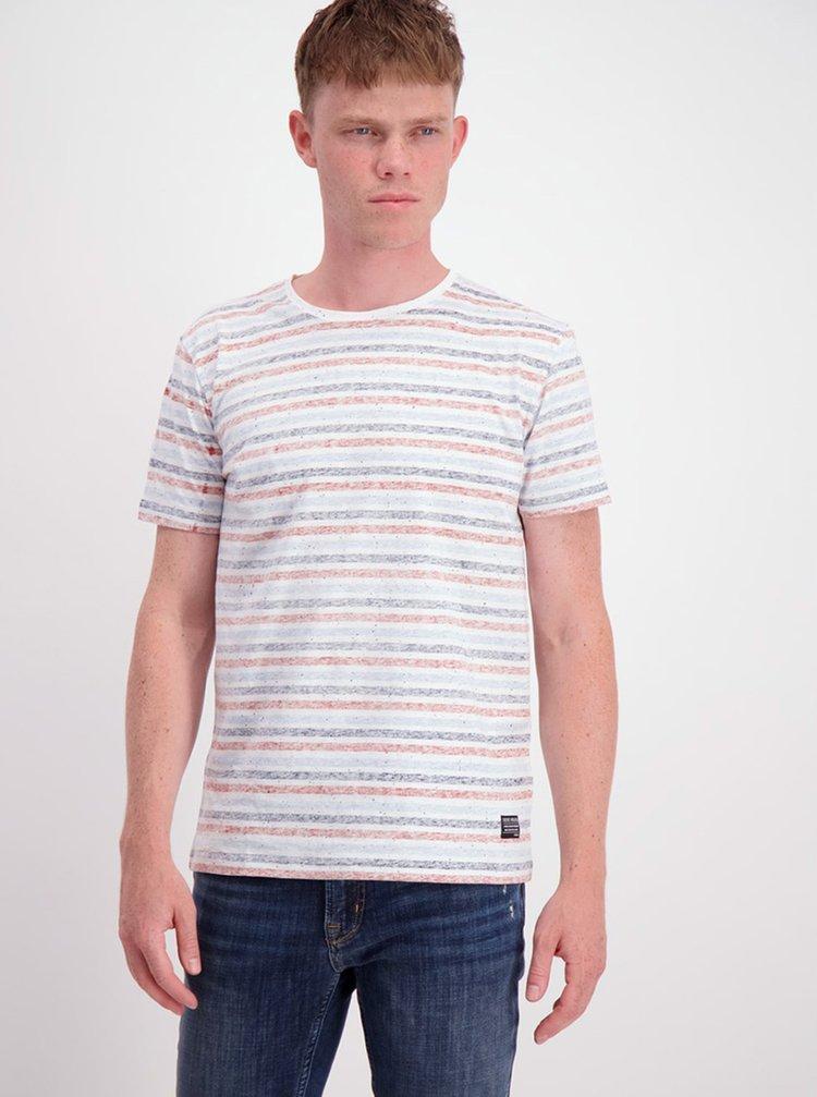 Modro-bílé pruhované tričko Shine Original