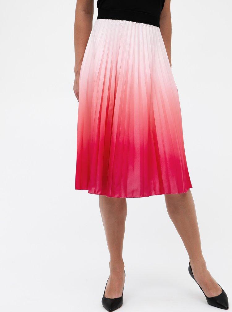Růžová plisovaná sukně s ombré efektem Haily´s Amelia