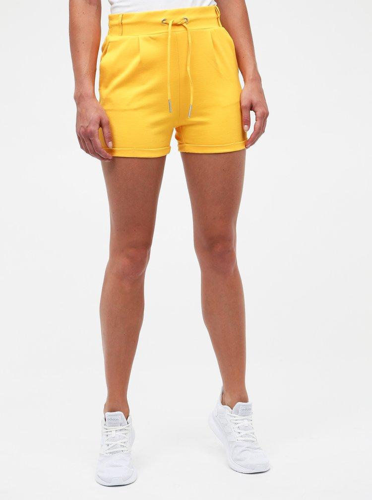 Žluté dámské kraťasy s vysokým pasem Haily´s Jyl