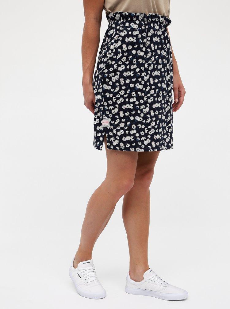 Tmavě modrá květovaná sukně Brakeburn Aster Daisy