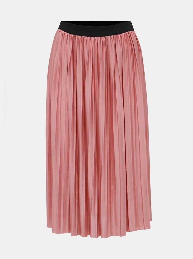 Růžová plisovaná sukně Jacqueline de Yong Boa