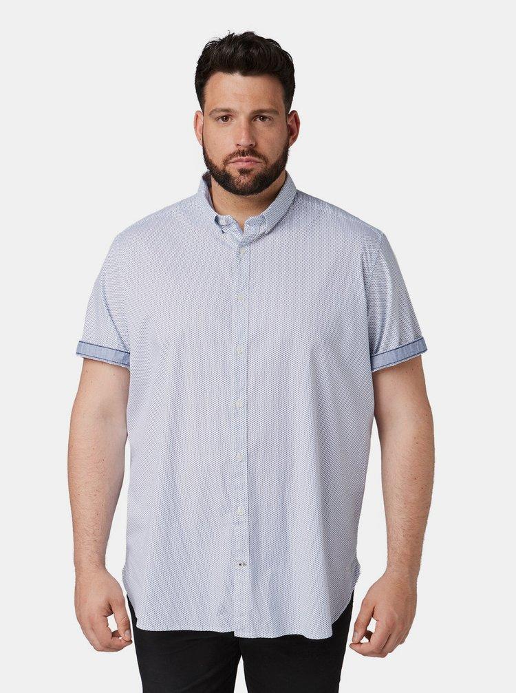 Modro-bílá pánská vzorovaná košile Tom Tailor