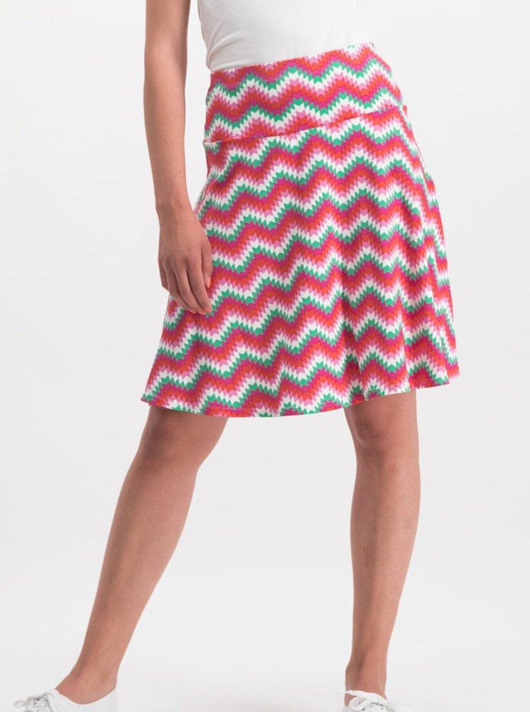 Růžová vzorovaná sukně Blutsgeschwister
