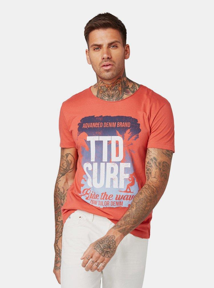 Červené pánské tričko Tom Tailor Denim