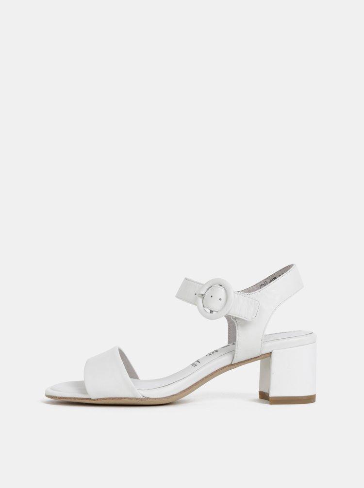 Bílé kožené sandálky Tamaris