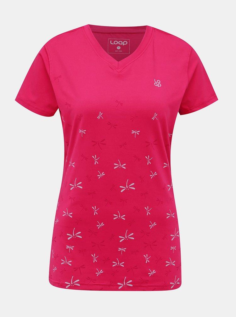 Rúžové dámske športové tričko LOAP Melvika