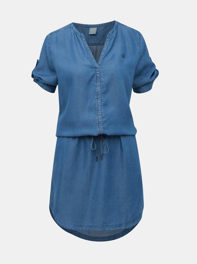 Modré rifľové šaty LOAP Nyra