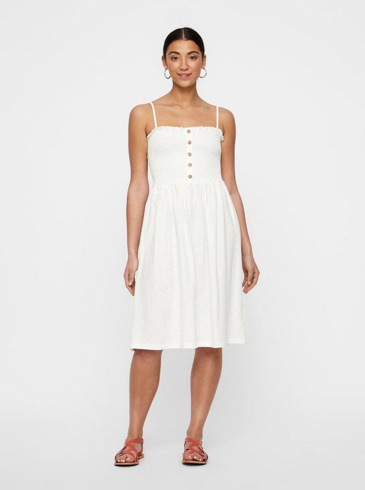 Biele šaty na ramienka VERO MODA Aria
