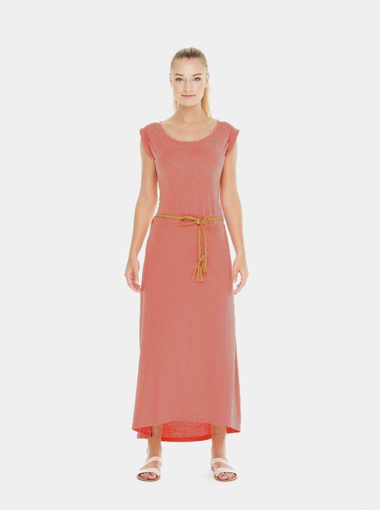 Rochie maxi roz cu model Ragwear Tag