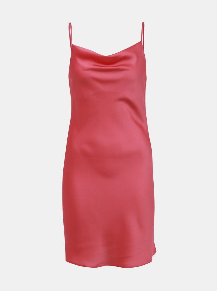 Rúžové šaty na ramienka Miss Selfridge
