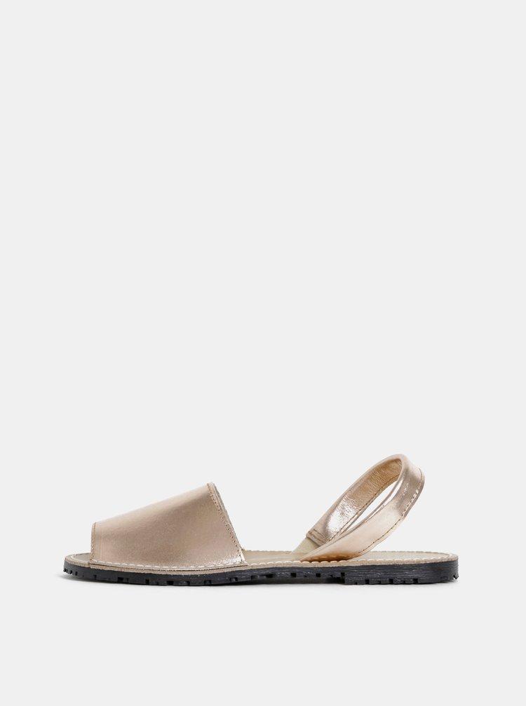Kožené sandále v rúžovozlatej farbe Tamaris