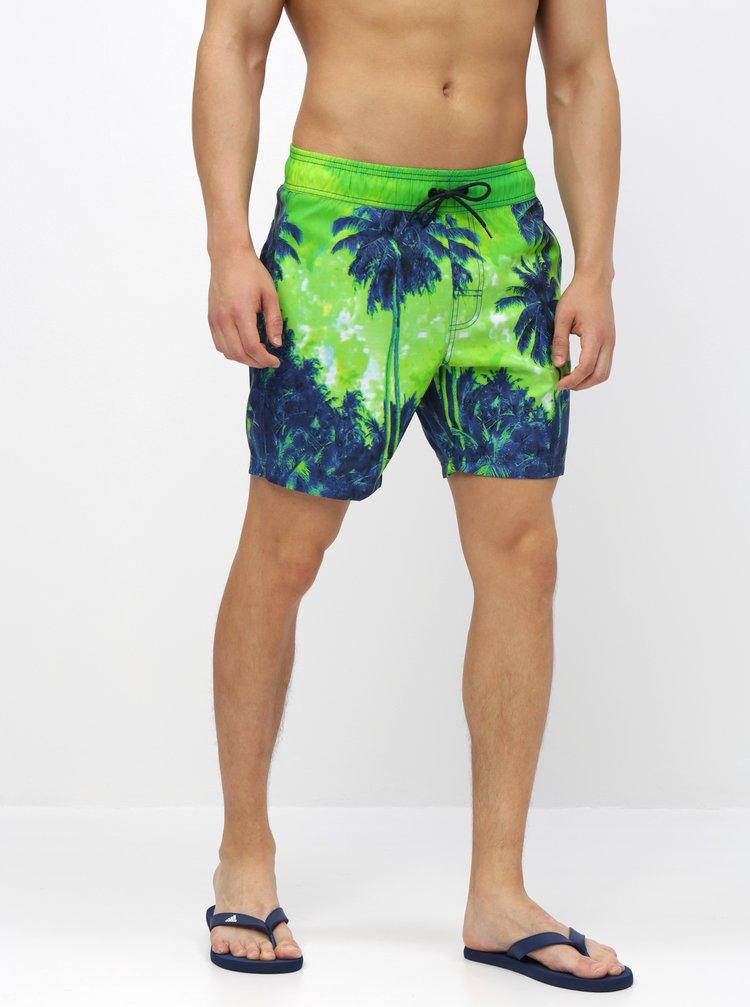 Zelené vzorované plavky Blend