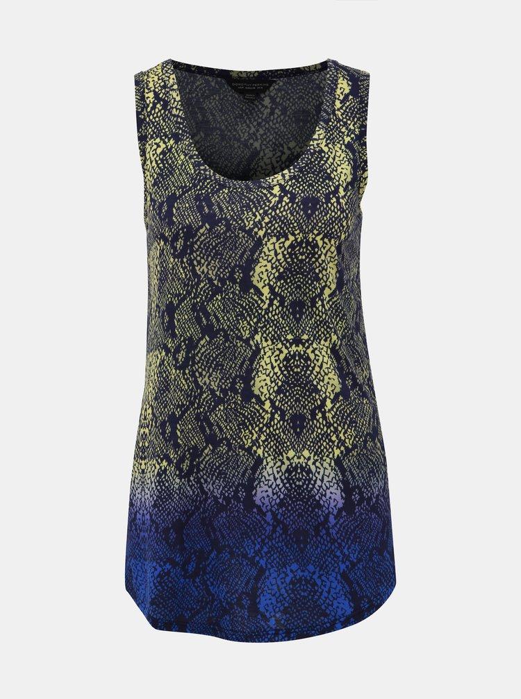 Žluto-modré vzorované tílko Dorothy Perkins