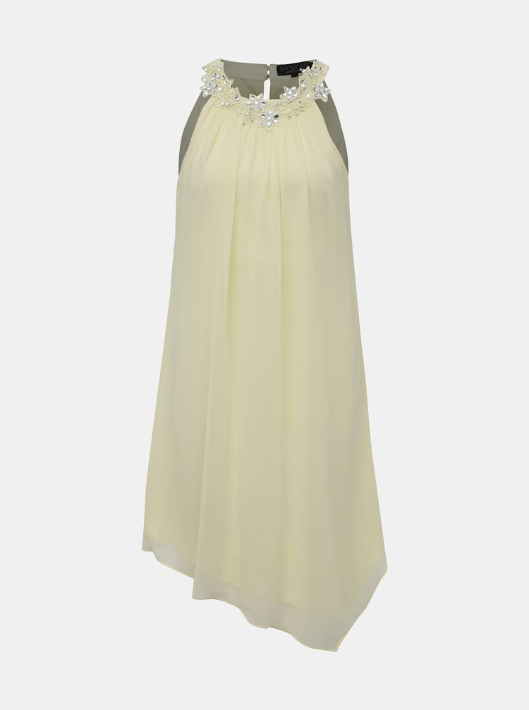 Světle žluté šaty s ozdobným lemem Dorothy Perkins