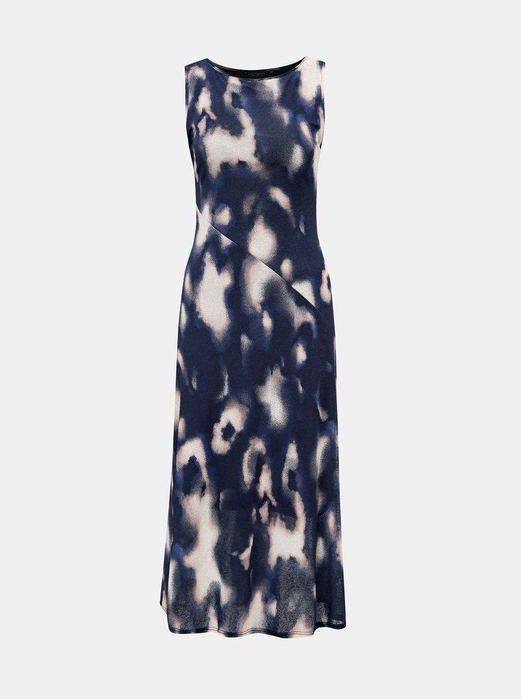 Tmavě modré vzorované midišaty Dorothy Perkins