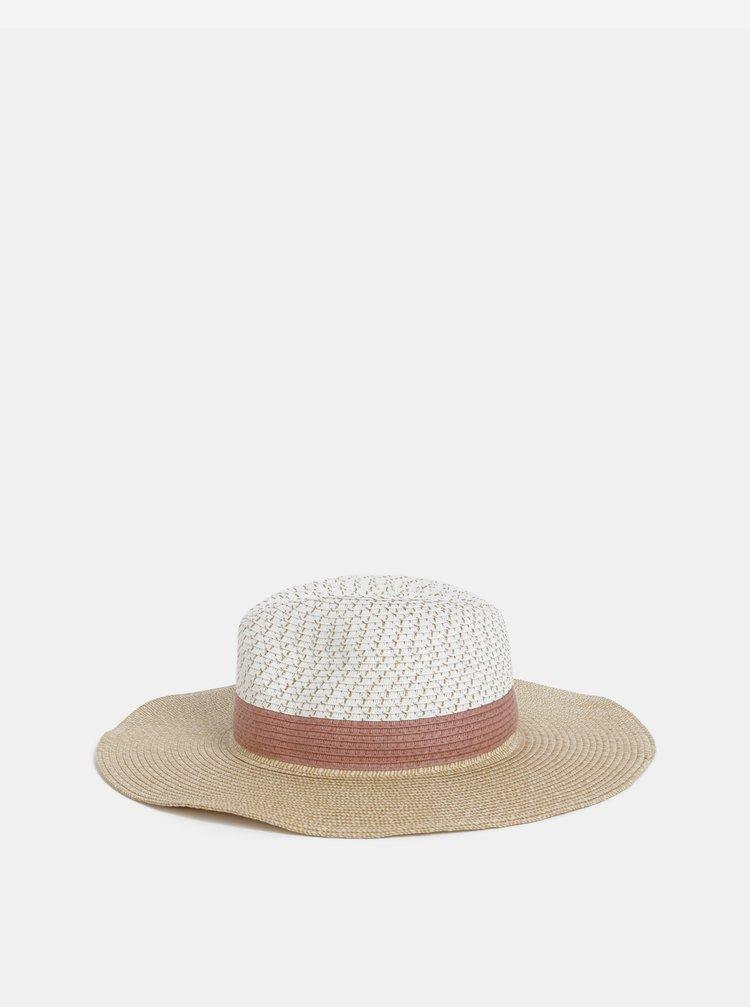 Bílo-béžový klobouk Dorothy Perkins