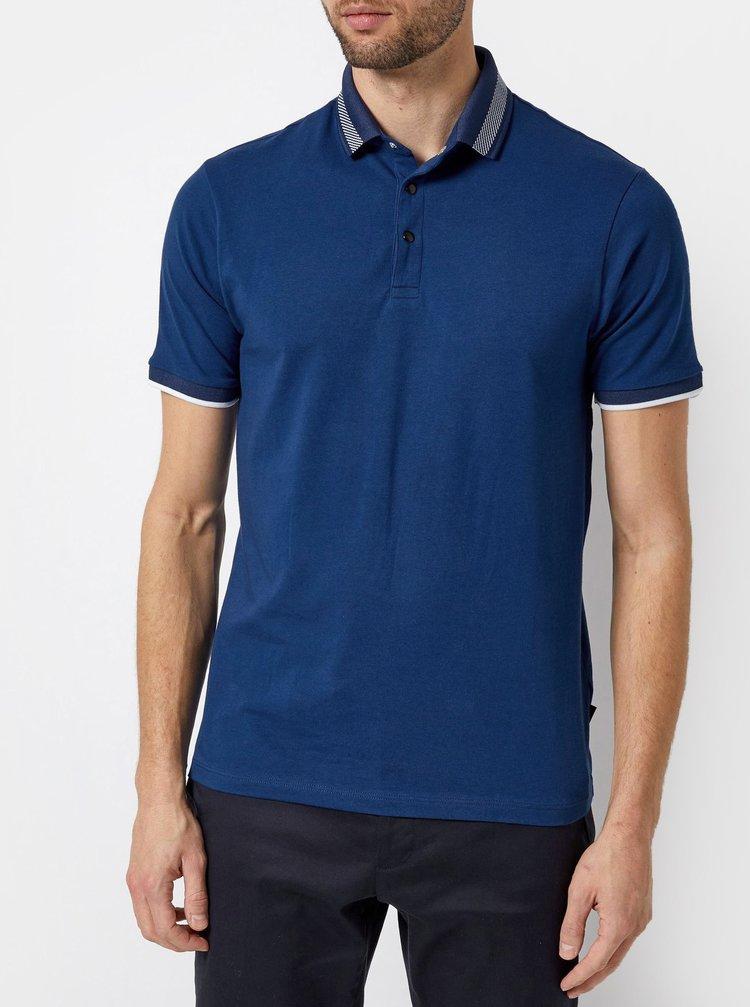 Tricou polo albastru inchis Burton Menswear London