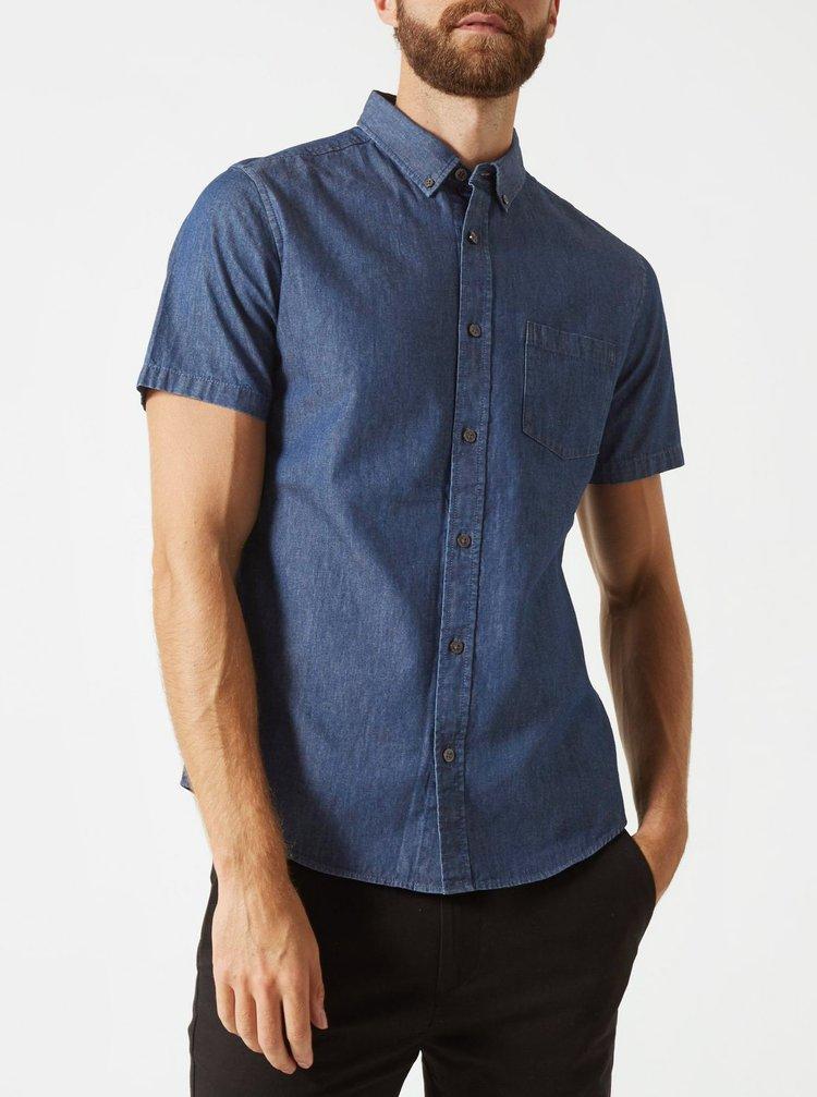 Tmavomodrá rifľová košeľa Burton Menswear London