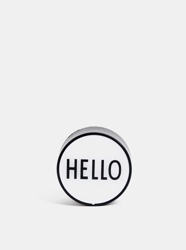 Světle šedý adaptér Design Letters Hello