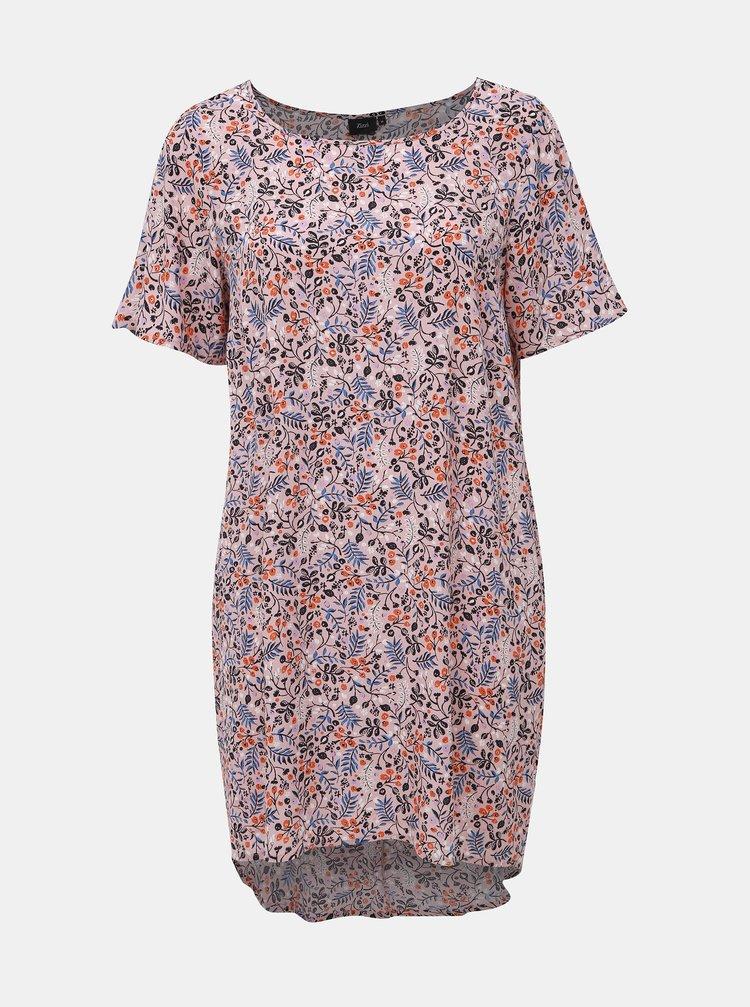 Růžové květované šaty Zizzi Alma