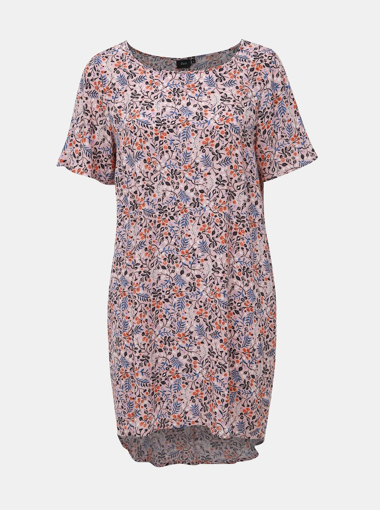Rúžové kvetované šaty Zizzi Alma