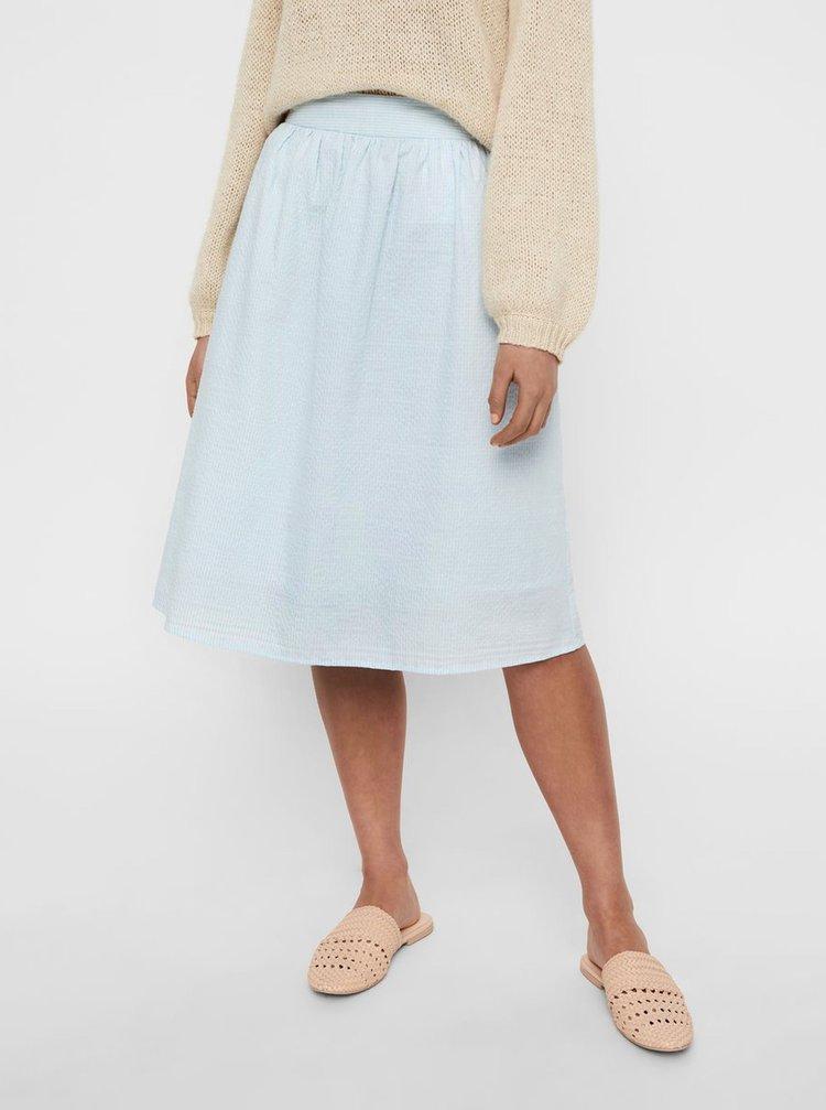 Modrá pruhovaná sukně VERO MODA Jane