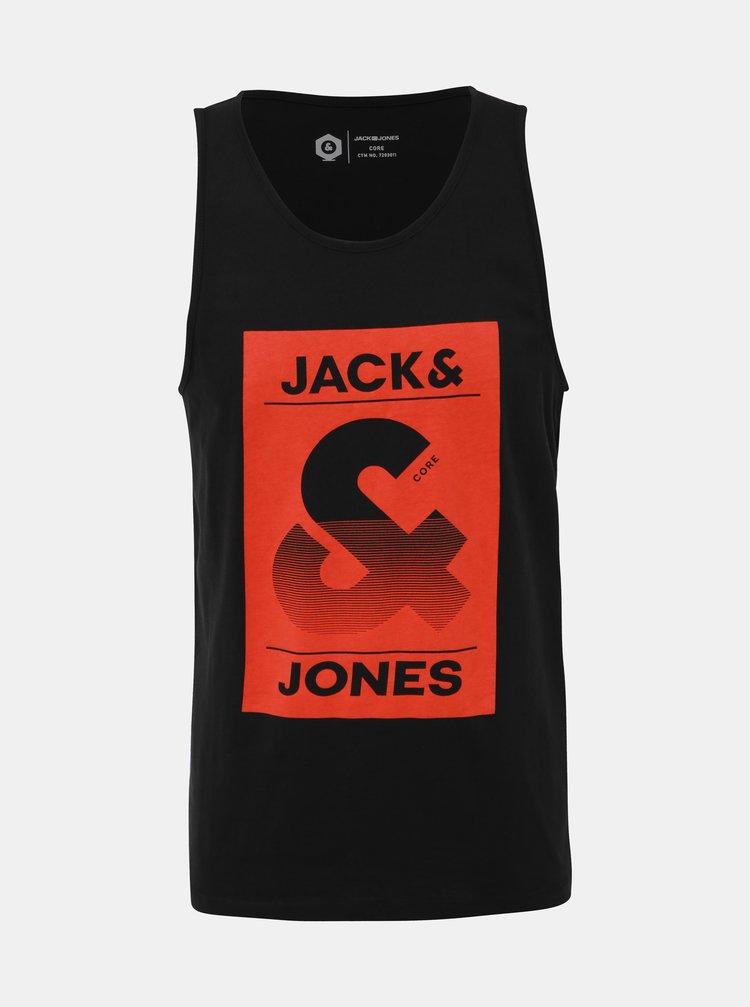 Černé tílko s potiskem Jack & Jones Lee