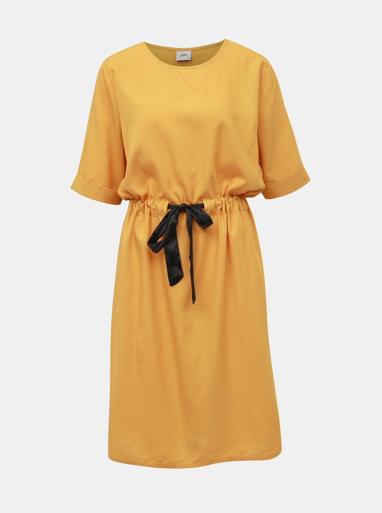 Hořčicové šaty Jacqueline de Yong Alexa