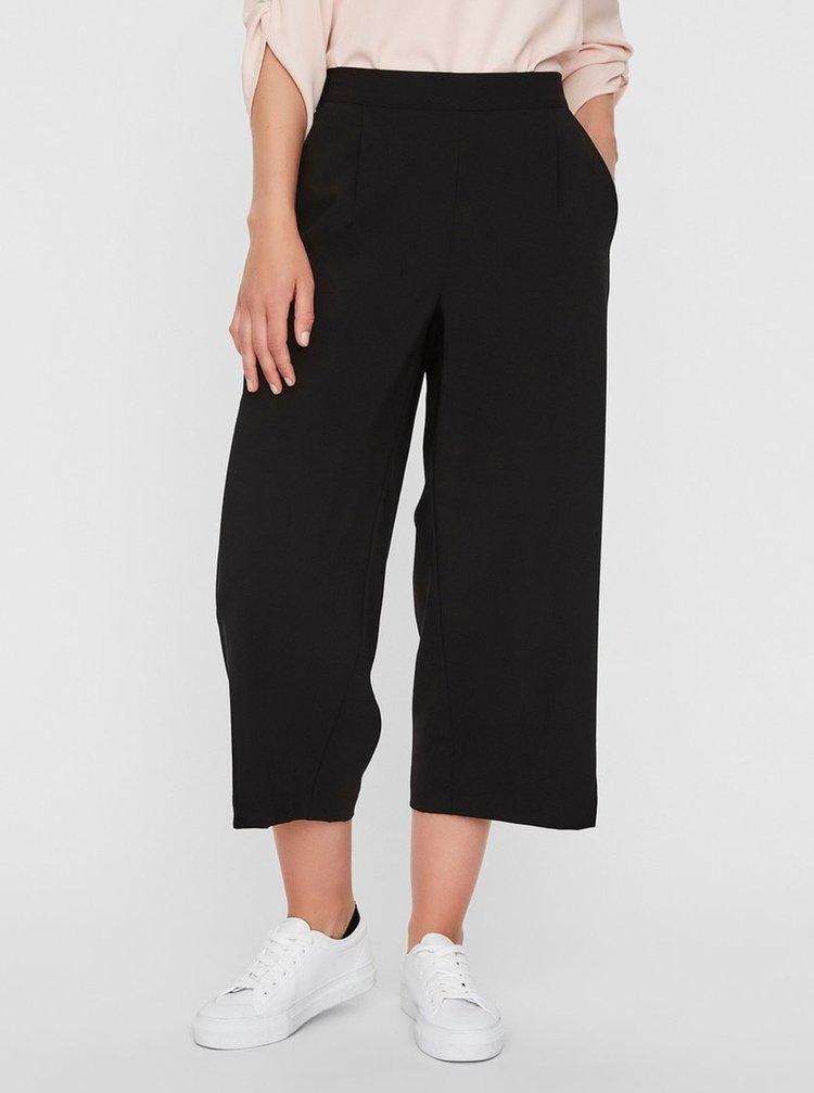 Čierne culottes s vysokým pásom VERO MODA Coco