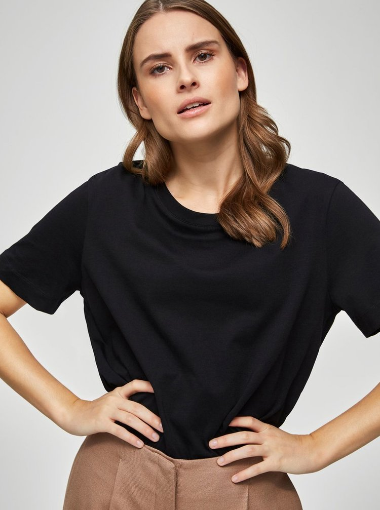 Černé basic tričko Selected Femme Standard