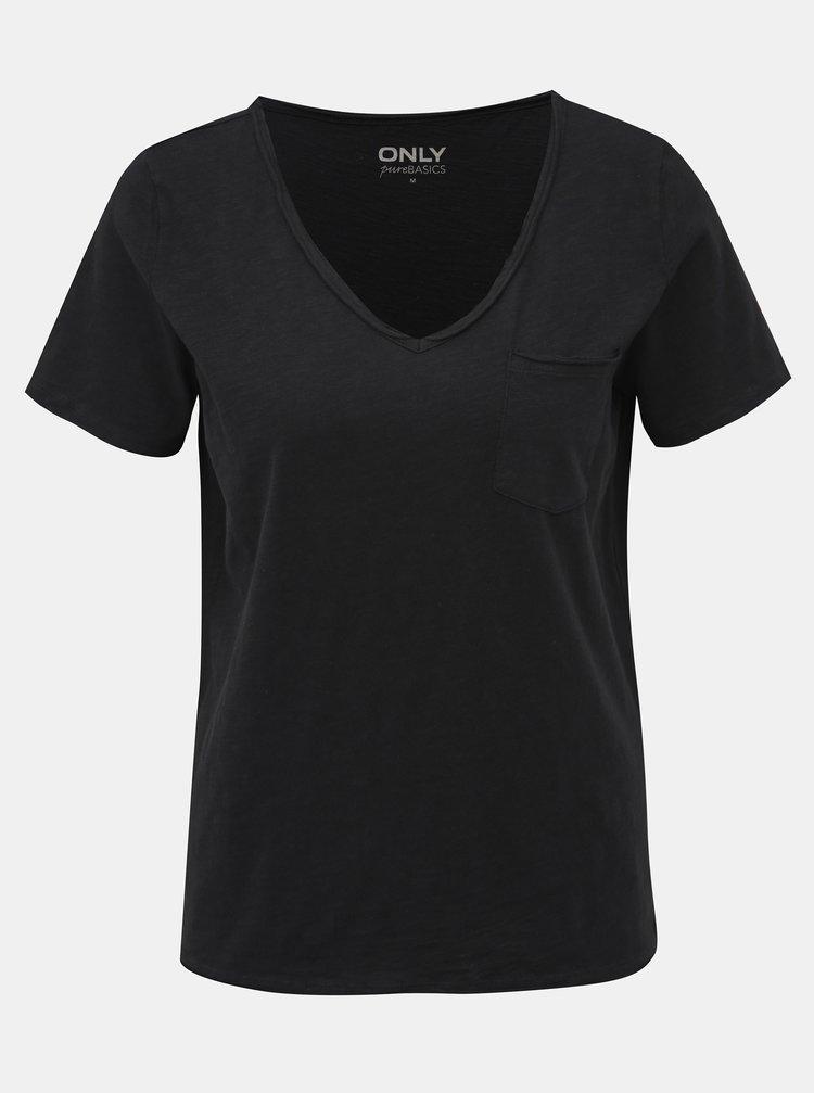 Černé tričko ONLY Bone